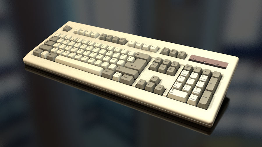 Computer Keyboard royalty-free 3d model - Preview no. 1
