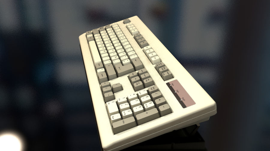 Computer Keyboard royalty-free 3d model - Preview no. 4