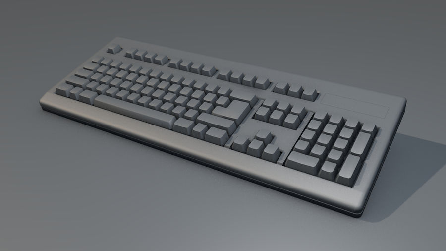 Computer Keyboard royalty-free 3d model - Preview no. 17
