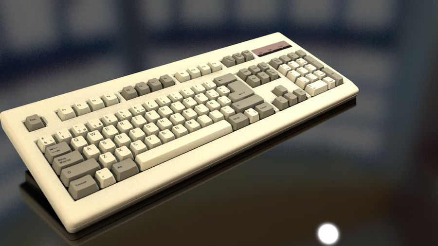 Computer Keyboard royalty-free 3d model - Preview no. 13