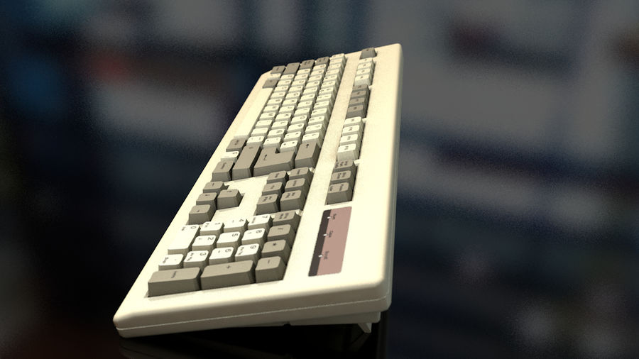 Computer Keyboard royalty-free 3d model - Preview no. 5