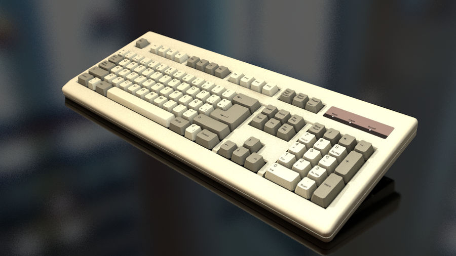 Computer Keyboard royalty-free 3d model - Preview no. 2