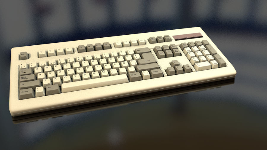 Computer Keyboard royalty-free 3d model - Preview no. 14
