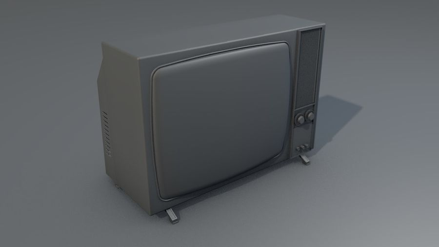 Vintage Television Set royalty-free 3d model - Preview no. 17