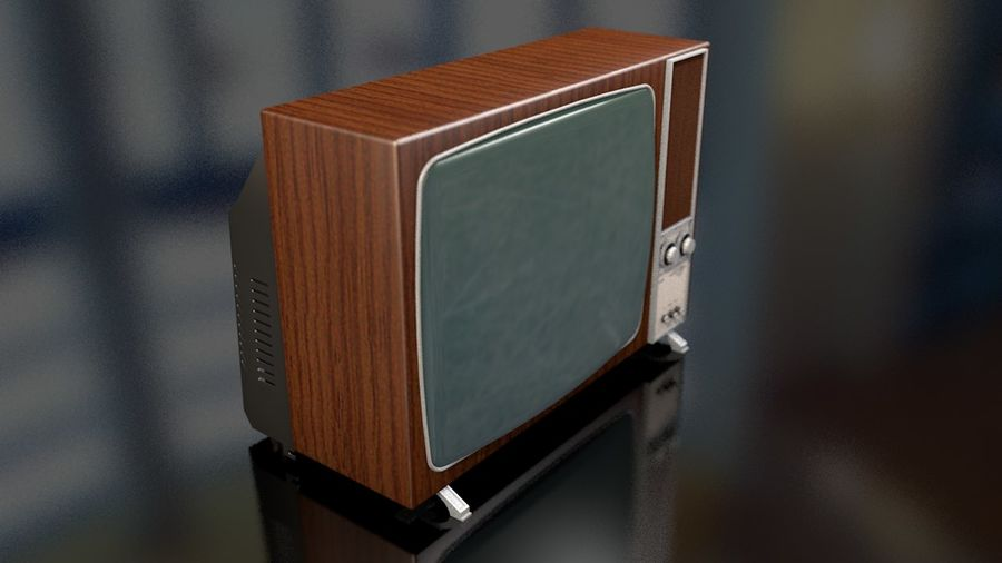 Vintage Television Set royalty-free 3d model - Preview no. 16