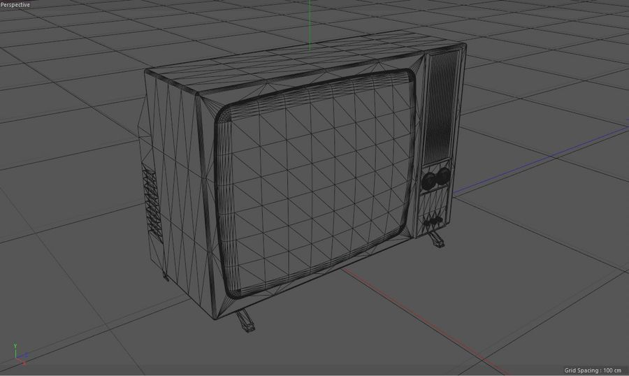 Vintage Television Set royalty-free 3d model - Preview no. 18