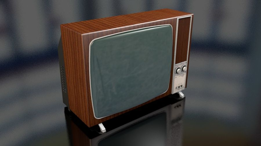 Vintage Television Set royalty-free 3d model - Preview no. 1