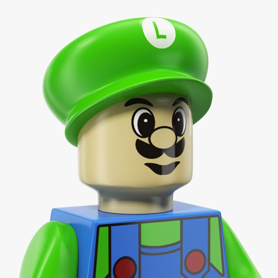 Luigi Lego Figure royalty-free 3d model - Preview no. 4