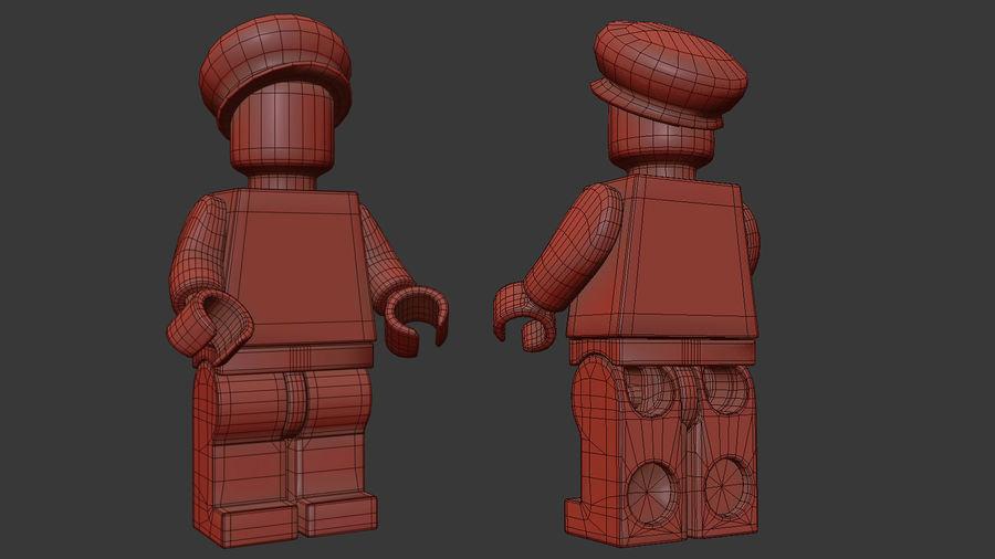 Luigi Lego Figure royalty-free 3d model - Preview no. 14