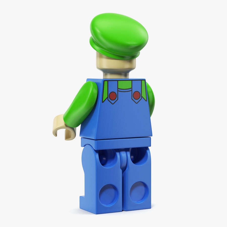 Luigi Lego Figure royalty-free 3d model - Preview no. 2