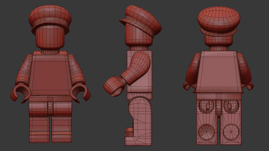 Luigi Lego Figure royalty-free 3d model - Preview no. 12