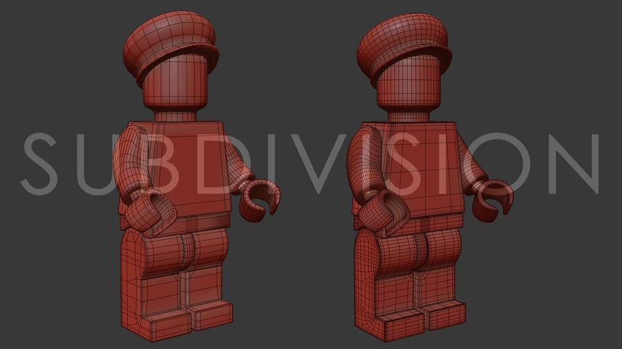 Luigi Lego Figure royalty-free 3d model - Preview no. 11