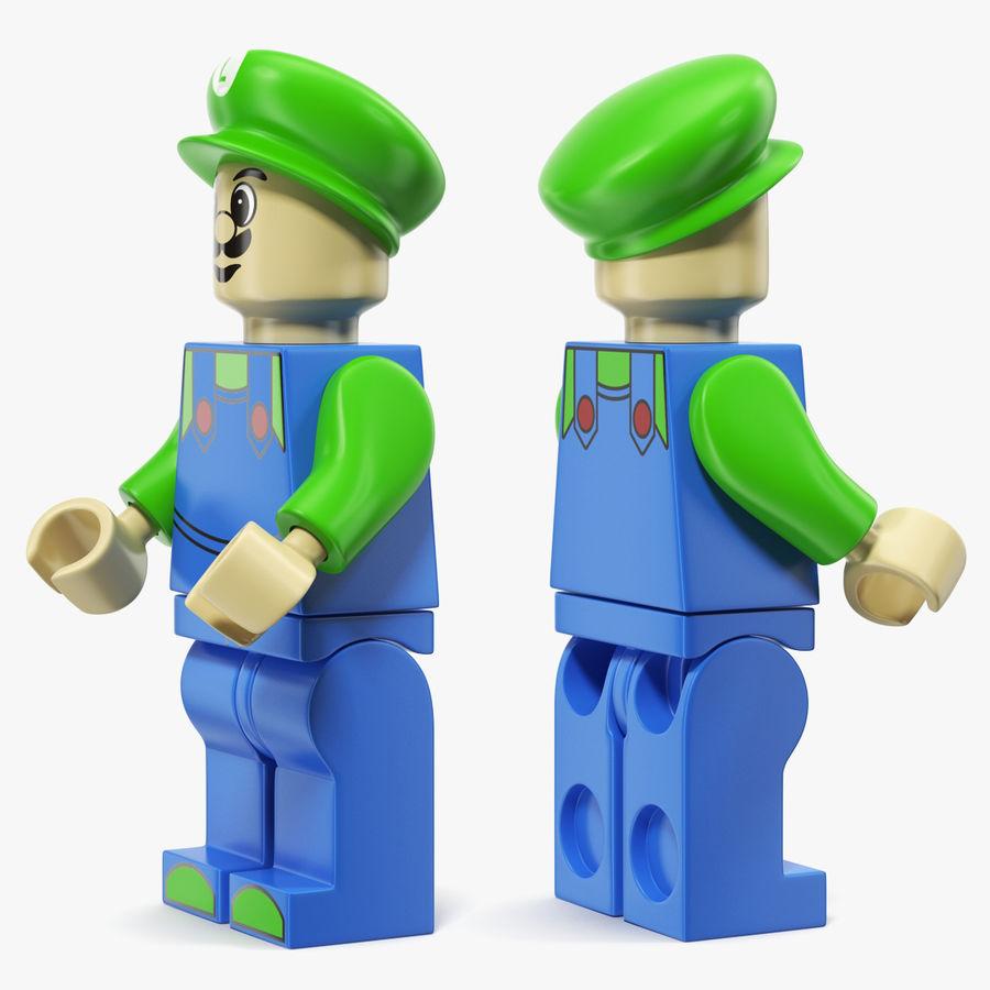 Luigi Lego Figure royalty-free 3d model - Preview no. 3