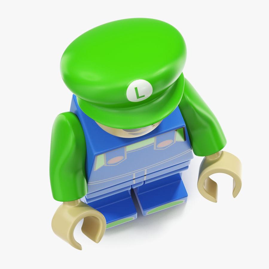 Luigi Lego Figure royalty-free 3d model - Preview no. 7