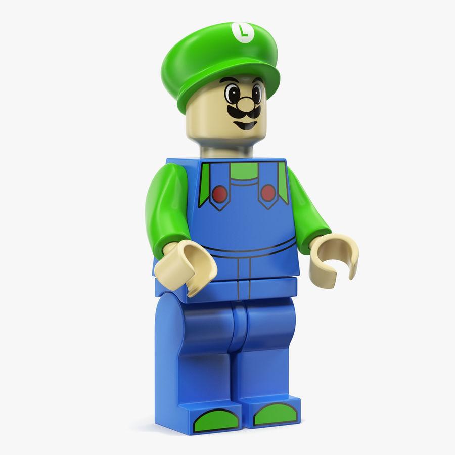 Luigi Lego Figure royalty-free 3d model - Preview no. 1