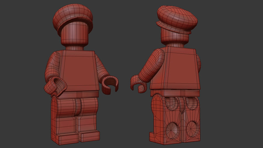 Figura di Mario Lego royalty-free 3d model - Preview no. 14