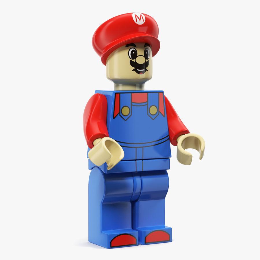 Mario Lego Figure royalty-free 3d model - Preview no. 1