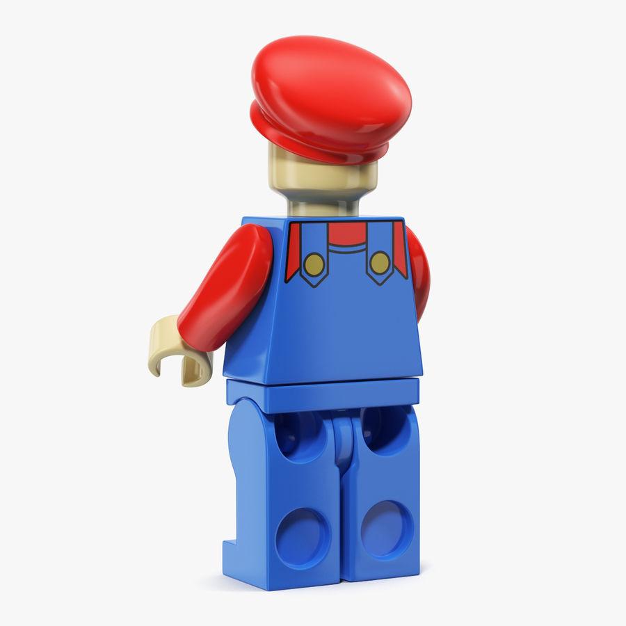 Mario Lego Figure royalty-free 3d model - Preview no. 2