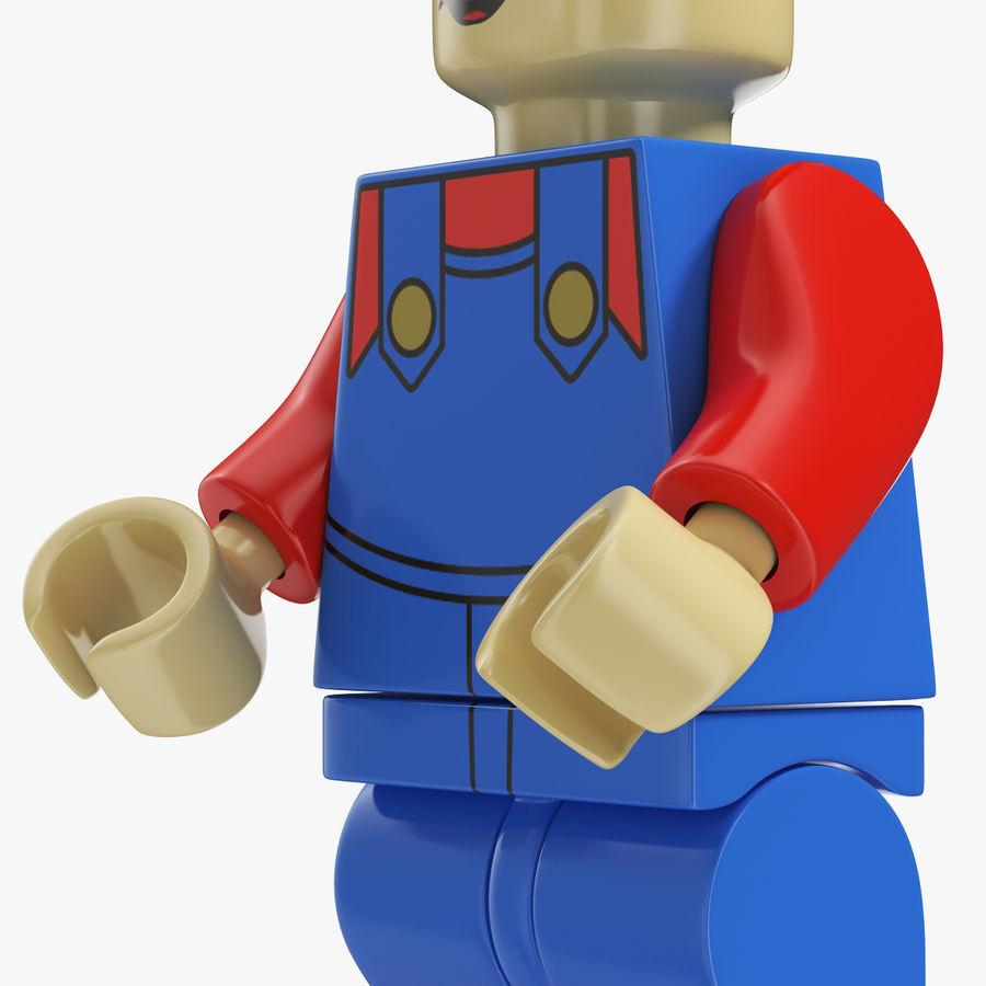 Mario Lego Figure royalty-free 3d model - Preview no. 6