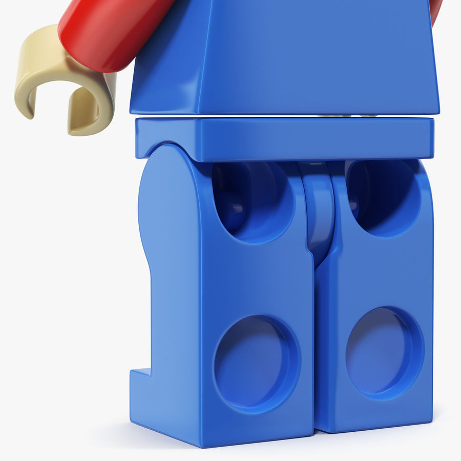 Mario Lego Figure royalty-free 3d model - Preview no. 5