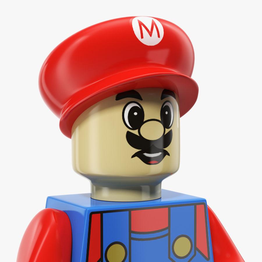 Figura di Mario Lego royalty-free 3d model - Preview no. 4