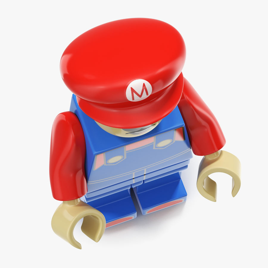 Mario Lego Figure royalty-free 3d model - Preview no. 7