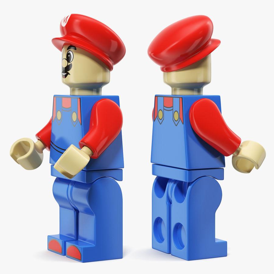 Mario Lego Figure royalty-free 3d model - Preview no. 3