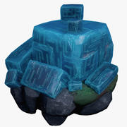 Crystal With Runes Low Poly 3d model