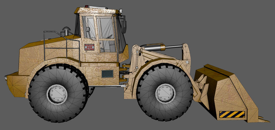 Bagger royalty-free 3d model - Preview no. 13