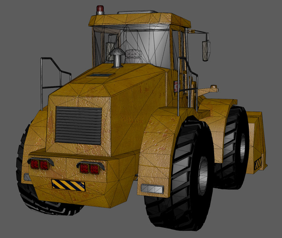 Bagger royalty-free 3d model - Preview no. 14