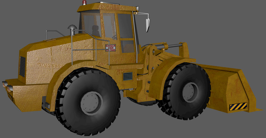 Bagger royalty-free 3d model - Preview no. 9
