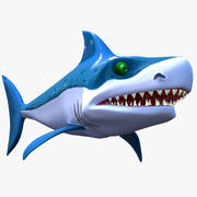 Dessin animé requin 3d model