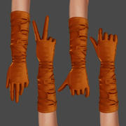 Long Gloves 3d model