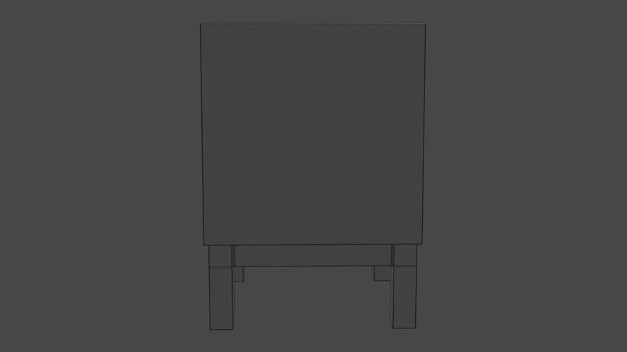 Bedside Table royalty-free 3d model - Preview no. 8