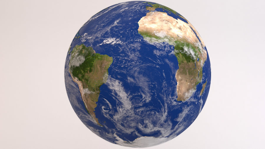Planet Earth royalty-free 3d model - Preview no. 6