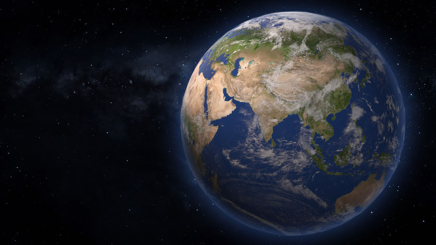 Planet Earth royalty-free 3d model - Preview no. 3