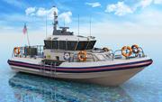 Лодка береговой охраны 3d model