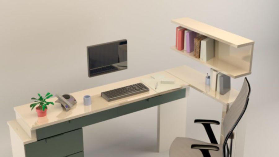 workstation Dan1 royalty-free 3d model - Preview no. 5