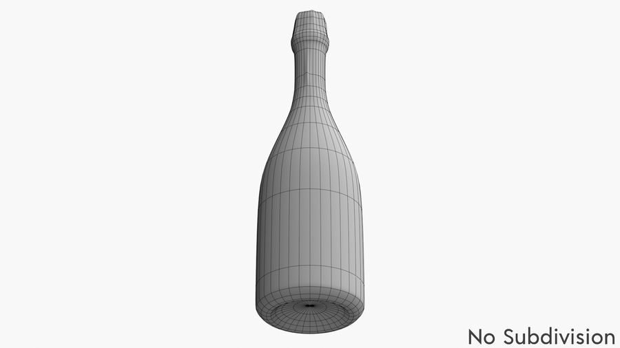 Realistic Dom Perignon Vintage Bottle royalty-free 3d model - Preview no. 9