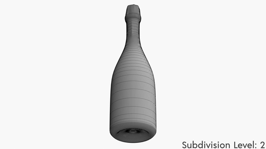 Realistic Dom Perignon Vintage Bottle royalty-free 3d model - Preview no. 10