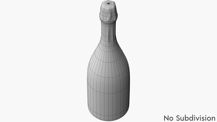 Realistic Dom Perignon Vintage Bottle royalty-free 3d model - Preview no. 7
