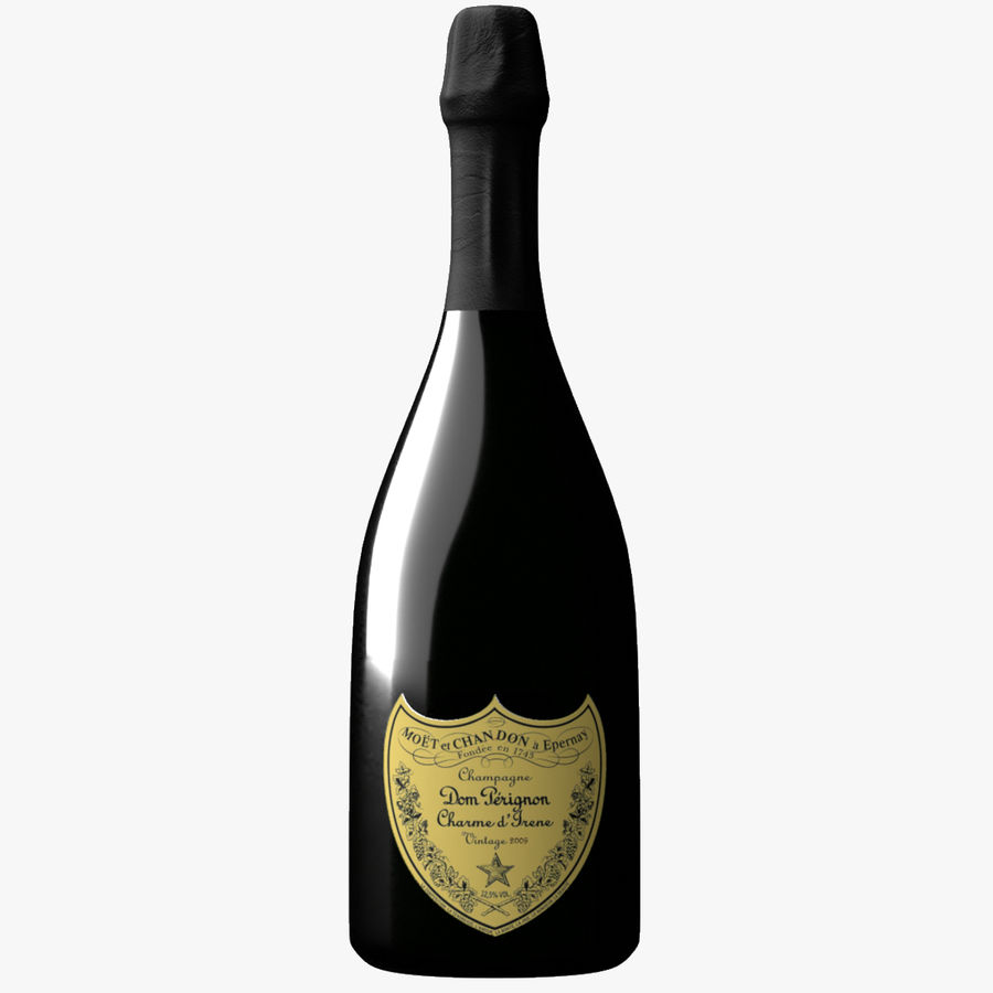 Realistic Dom Perignon Vintage Bottle royalty-free 3d model - Preview no. 1