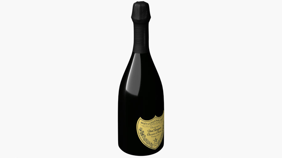 Realistic Dom Perignon Vintage Bottle royalty-free 3d model - Preview no. 3