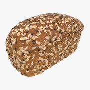 통밀 빵 3d model