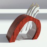 Держатель ножа из красного дерева 3d model
