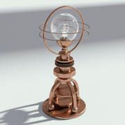 銅電球ランプ 3d model
