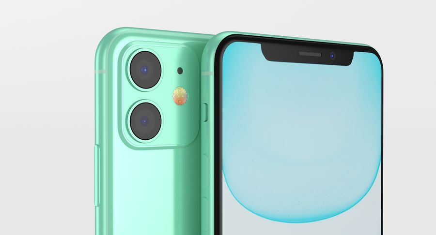 iPhone 11 royalty-free 3d model - Preview no. 4