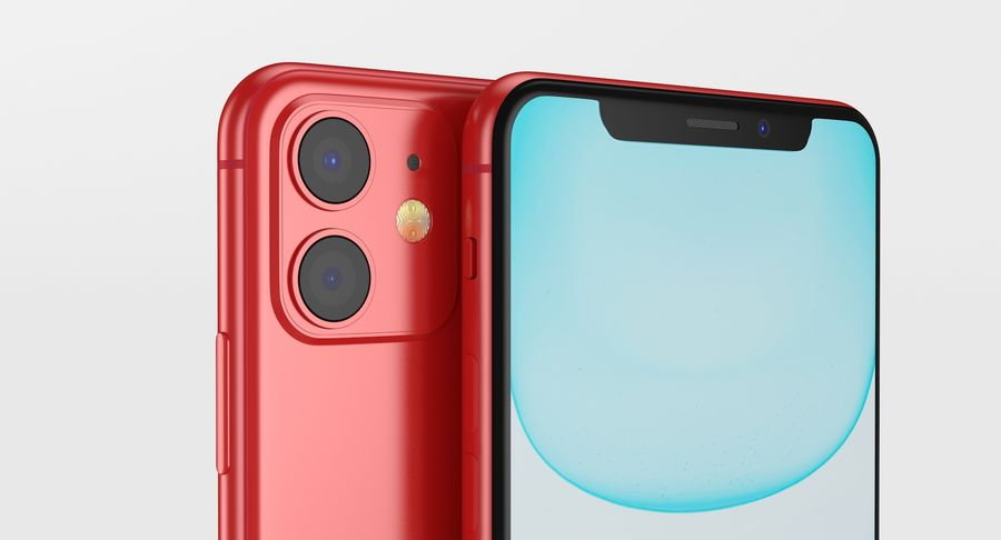 iPhone 11 royalty-free 3d model - Preview no. 6