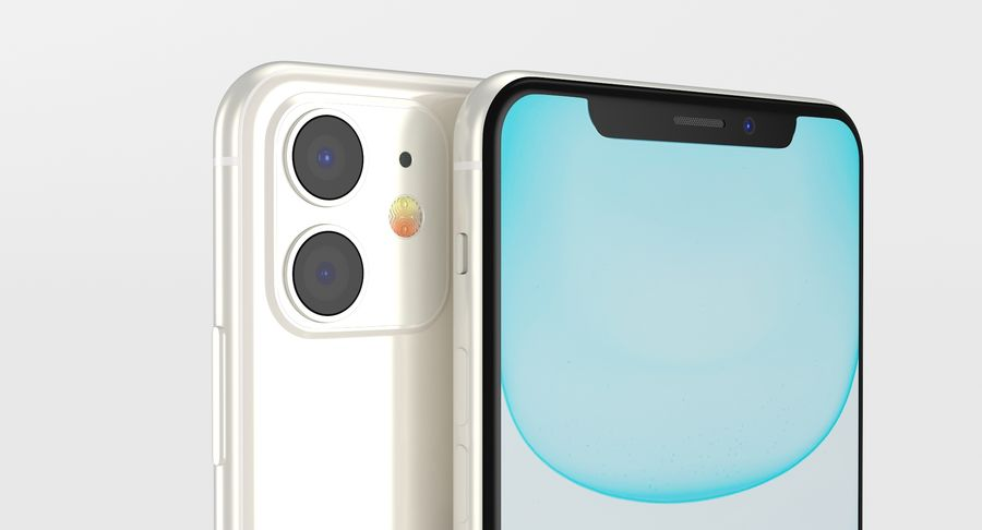 iPhone 11 royalty-free 3d model - Preview no. 7