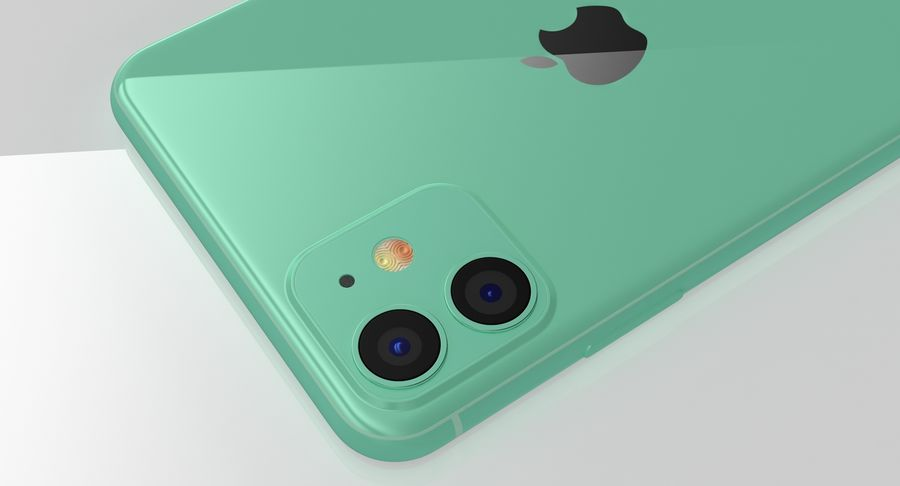 iPhone 11 royalty-free 3d model - Preview no. 16